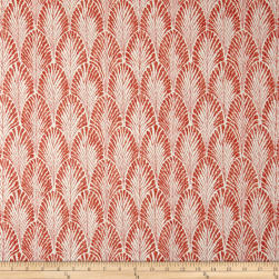 Lacefield Designs Plume Basketweave Shrimp Fabric