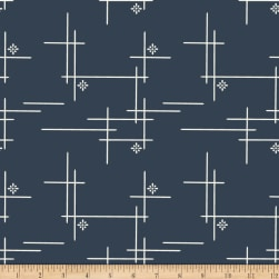 Birch Organic Merryweather Hatch Canvas Dusk Fabric