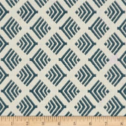 Richloom Citizen Jacquard Teal Fabric
