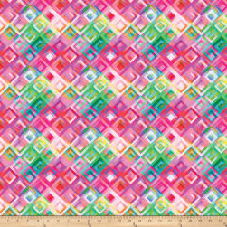 Strokes Of Brilliance Digital Geo Pink Fabric