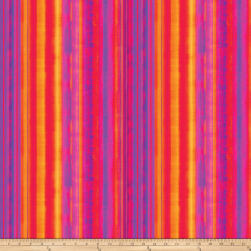 Strokes Of Brilliance Digital Stripes Pink Fabric