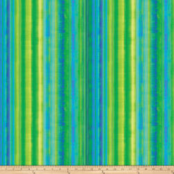 Strokes Of Brilliance Digital Stripes Green Fabric