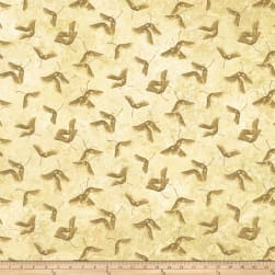 Maplewood Stonehenge Maplewood Abstract Leaves Tan Fabric