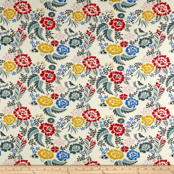 Birch Organic Merryweather Floral Interlock Knit Multi Fabric
