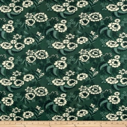 Birch Organic Merryweather Floral Interlock Knit Slate Fabric