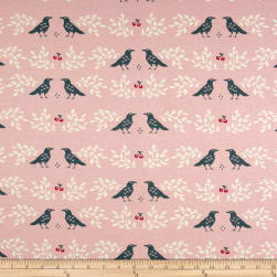 Birch Organic Merryweather Nevermore Interlock Knit Blush Fabric