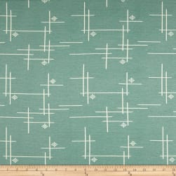 Birch Organic Merryweather Hatch Interlock Knit Mineral Fabric