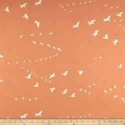 Birch Organic Basics Flight Interlock Knit Peachy Fabric