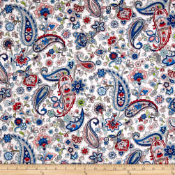 Paisley Wonder Allover Paisleys White/Multi Fabric