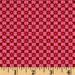 Paisley Wonder Graphic Floral Red Fabric