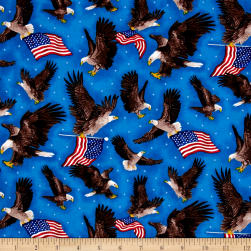 America Flags & Eagles Blue/Multi