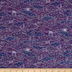 Down Under Aboriginal Waves Purple/ Multi