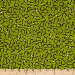 Horse Play Tossed Horseshoes Green Fabric