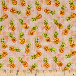 Isle Tossed Pineapples Coral/Multi Fabric