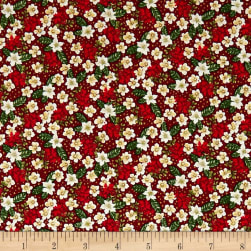 Noel Small Floral Metallic Crimson/Multi Fabric