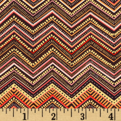 Boho Chic Chevron Stripe Chocolate/Multi Fabric