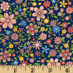 Boho Chic Small Floral Navy/Multi Fabric