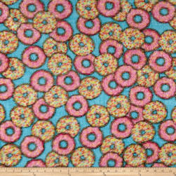 Whisper Plush Fleece Ombre Doughnut Multi Fabric