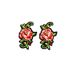 Regina Rose Embroidered Iron-On Patch Applique Pk/2 1