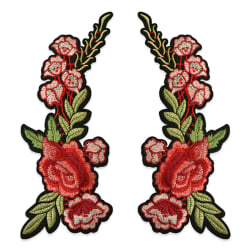 Trina Iron On Embroidered Roses Applique Pair 11