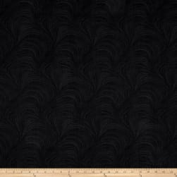 Wave Texture Wide Wave Texture Black Fabric