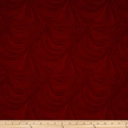 Wave Texture Wide Wave Texture Dark Red Fabric