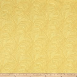 Wave Texture Wide Wave Texture Yellow Fabric