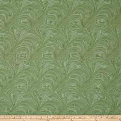 Wave Texture Wide Wave Texture Green Fabric