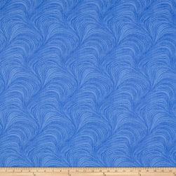Wave Texture Wide Wave Texture Blue Fabric