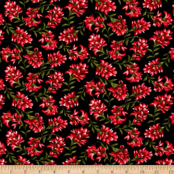 A Wildflower Meadow Indian Paintbrush Black/Red Fabric