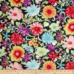 Contempo Meadow Dance Wildflowers Grey/Multi Fabric