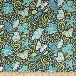 Contempo Meadow Dance Garden Path Grey Fabric