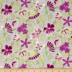 Contempo Meadow Dance Garden Path Light Plum Fabric