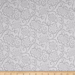 Contempo Meadow Dance Floral Blender Light Grey Fabric