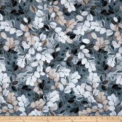 Kanvas Essence of Pearl Sheer Leaves Smoky Grey