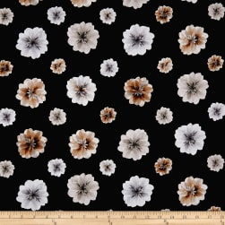 Kanvas Essence of Pearl Floating Blossoms Black Metallic