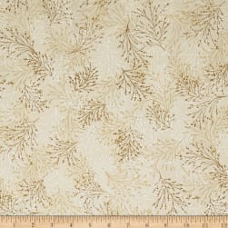 Kanvas Essence of Pearl Dragonfly Dream Dove Metallic Silver Fabric