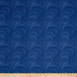Hydrangea Blue Wave Texture Medium Blue Fabric