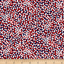 Kanvas Simply American Mini Confetti Dots Red/White Fabric