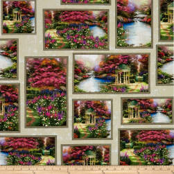 Thomas Kinkade Studio The Garden Prayer Allover Patch