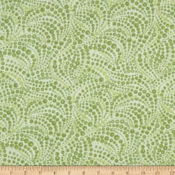 Cat-I-tude Beaded Swirls Tonal Lt.Green Fabric