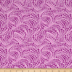 Cat-I-tude Beaded Swirls Tonal Lt. Purple Fabric