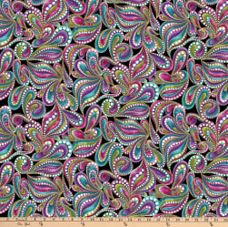 Cat-I-tude Paisley Style Metallic Black/Multi