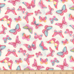 Kaufman London Calling Lawn Spring Butterflies Fabric