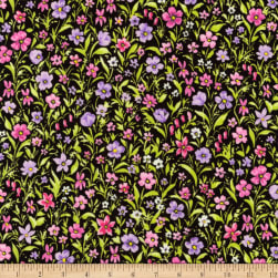 Kaufman London Calling Lawn Purple Flowers Fabric