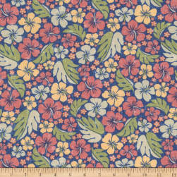 Kaufman Sevenberry Island Paradise Tropical Flowers Fabric