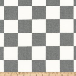 Kaufman Sevenberry Canvas Prints Grey Checks Squares Fabric