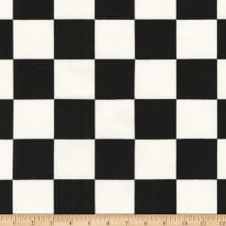 Kaufman Sevenberry Canvas Prints Black Checks Squares Fabric