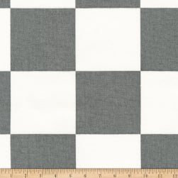 Kaufman Sevenberry Canvas Prints Grey Checks Squares