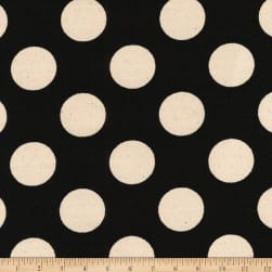 Kaufman Sevenberry Canvas Prints Black Dots Fabric